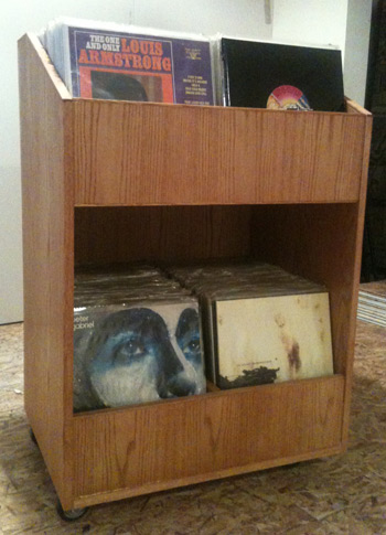 Holds about 400 albums
