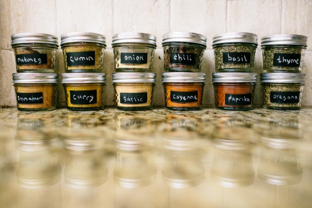 Mason jars - perfect for storing spices