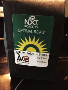 Bag of NXT Roasters Yellow Cataui coffee beans.