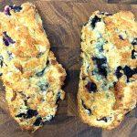 A couple blueberry scones